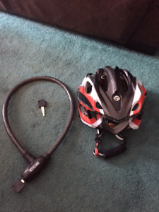 Bike Helmet (size Medium) and CCM Lock