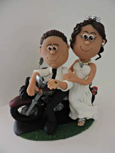 Wedding cake topper personalizzato moto