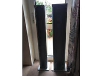 CD tower and DVD tower 4' tall in silver
