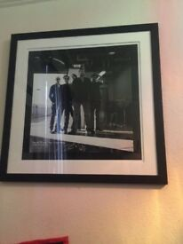 Rich hardcastle photo of the band elbow for charity limited edition and hand signed by the band