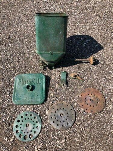 Vintage Planet Jr 300a Seeder Planter Hopper & Seed Plate Set (3) Garden Tool