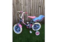 Raleigh Me To You 12in Girls Bike Blue and Pink £30 ono