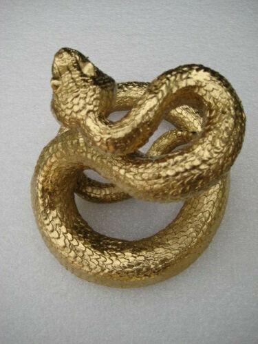 Gold Rattlesnake Snake Eyes Statue Figurine