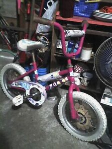"Barbie Kids Girls 14"" Wheel Bike and Girls 12"" Wheel Bike"