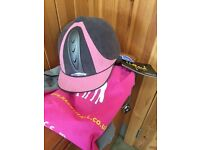 Unworn Harry Hall Riding Hat with Tags, Size 54cm Pink BSEN1384:2012