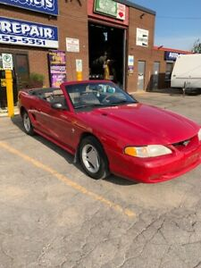 1996 FORD MUSTANG CONVERTIBLE $ 3995 sale CERTIFIED! OFFERS