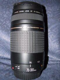 (Canon) ultrasonic zoom 1:4 5.6# lens 75-300mm