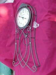 625-328 23 LONG WROUGHT IRON WALL CLOCK BY HOWARD MILLER