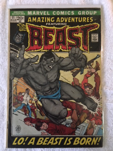 Amazing Adventures comic book #11-1st Appear. of the BEAST w/fur