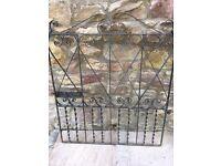 Wrought iron gate -
