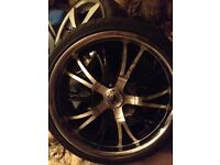 Brand new/unused 4 stud alloy wheels