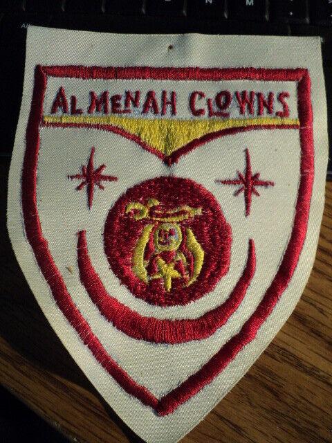LARGE Masonic Patch Al Menah Clowns  approx. size 5 1/4 X 6 1/2