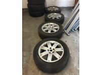 SET OF 4 RANGE ROVER WHEELS & TYRES 19""