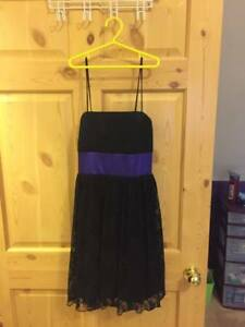 BLACK & PURPLE DRESS FOR SALE!