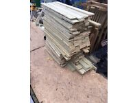 Sawn treated wood used for fencing