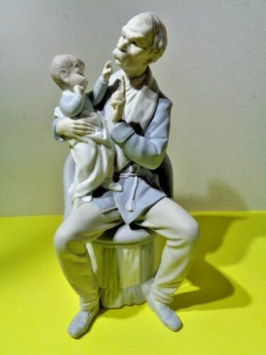 """Lladro """"The Grandfather"""" With Baby # 4654 Figurine Matte Finish (12 by 6 by 5"""")"""