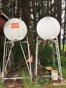 Fuel Tanks c/w stands, filters, hoses, nozzles