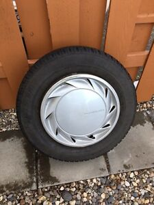 4 snow tires with steel rims