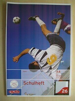 Schulhefte - DIN A4 - Herlitz - Nr. 26 - kariert mit Rand - 16 Blatt - 3 Stück