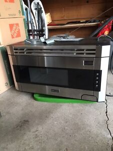 Brigade stainless steel over-the-range microwave