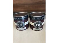 Two 2.5 Litre tins of Farrow and Ball emulsion. Stony Ground 211. New. Collect Chichester
