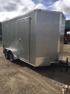 New 2018 V-Nose 14ft Continental Trailer with Ramp Door