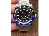 rolex gmt ii batman sapphire glass ceramic bezal rolex wave box papers and cards inclued