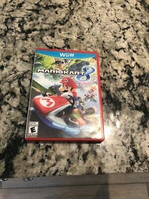 mario kart 8 wii u game  with case and instructions (used)