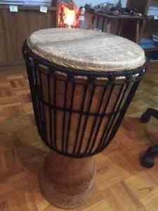 Classic Djembe (Carved) 100% unused with bag + dvd + rope puller