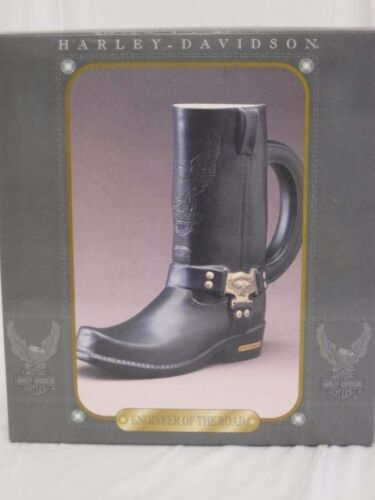 Harley Davidson Engineer of the Road Boot Stein New In Box 1998 COA