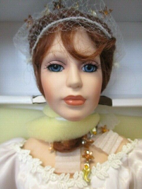 "Paradise Galleries Porcelain 22"" Princess Alyssa Collector Doll With COA NIB"
