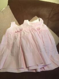 Pale pink striped dresses from Jacadi of Paris. Sizes 12months and 18months