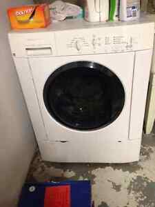 FRIGIDAIRE FRONT LOAD WASHER AND WHIRLPOOL DRYER