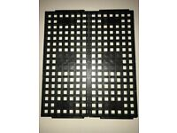 1 lot of 50 Kostat MQFP 28mmX28mm KS-8201 Black CPU Trays Used