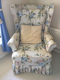Pair of Attractive Armchairs with floral washable covers