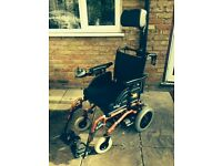 ELECTRIC WHEELCHAIR - INVACARE MIRAGE with HEAD SUPPORT.