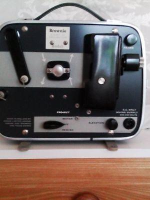 VINTAGE KODAK BROWNIE 8mm CINE PROJECTOR-IN BLUE CASE -about 1960