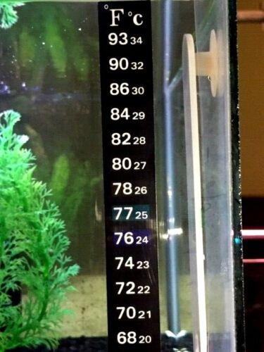 Aquarium Fish Tank Thermometer Temp Sticker Stick on **FAHRENHEIT IN BOLD!**