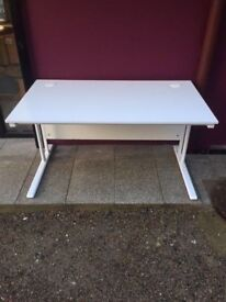 White 1400 straight office desk delivered to Belfast