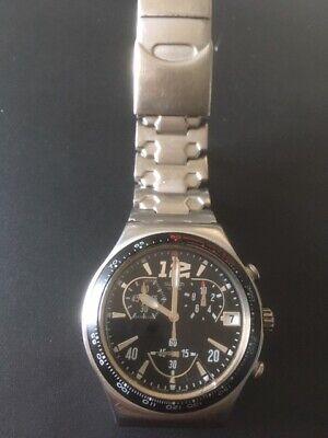 Genuine Swatch Irony Chrono watch stopwatch with metal bracelet strap and date