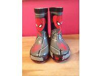 Spiderman welly boots, children's size 6