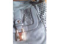 NEW Slate Grey/Pale Blue Handbag