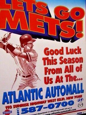 "1999 New York Mets Atlantic Automall Original Print Ad 8.5 x 10.5"""