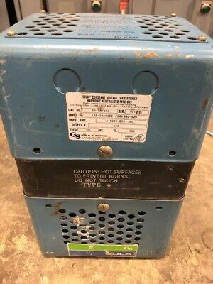 Sola 63-23-150 Constant Voltage Transformer 500va 120v Output