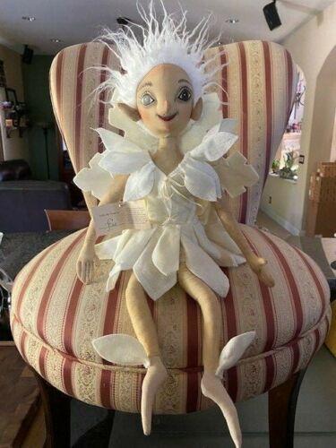Joe Spencer Gathered Traditions Fae Snowflake Fairy White Christmas Doll -
