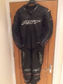 RST TracTech EVO 1 Piece Black & White Leathers
