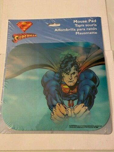 SUPERMAN Lenticular Motion MOUSE PAD By Fellowes SEALED - 1996!