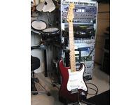 Fender stratocaster guitar.