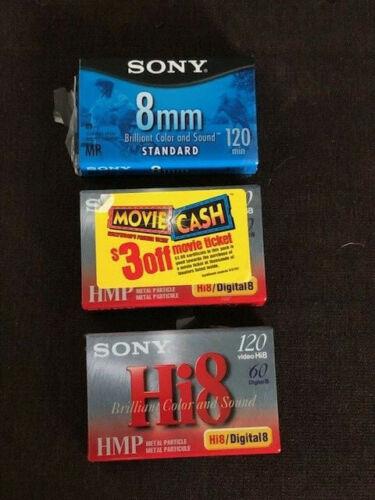 Sony Hi8 HMP 120 Video Tape 2-Pack - Plus Sony 8mm Standard 120 Min Tape