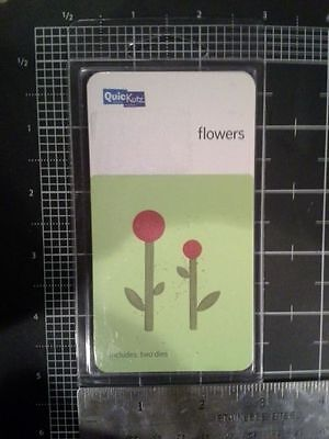 - QuicKutz Flowers NEw 2 x 2 die  Rare two die shapes New